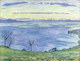 ホドラー「ジュネーブ湖の夕暮れ」チューリッヒ美術館