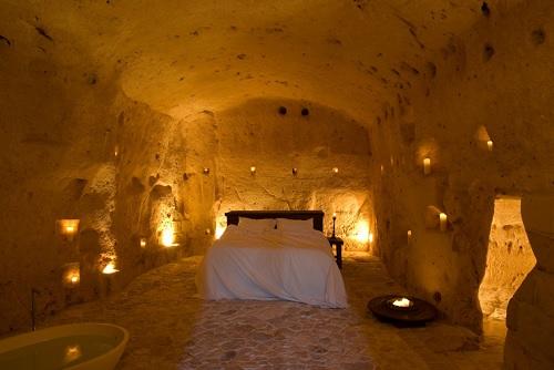 マテーラ: セクスタンチオ・ル・グロッタ・デッラ・チヴィタ  Sextantio Le Grotte della Civita