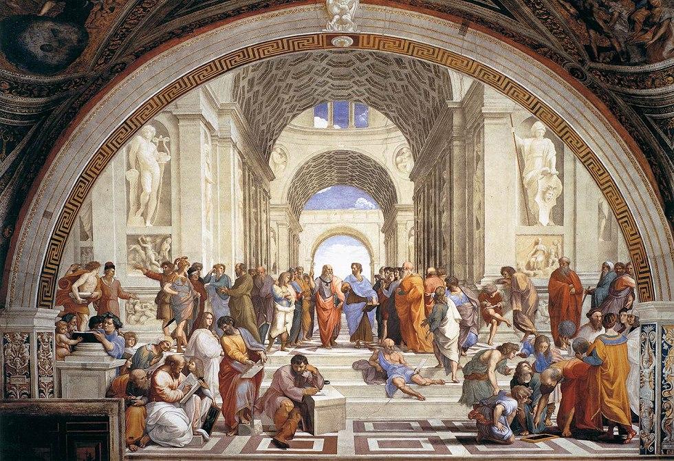 ラファエロ「アテネの学堂」ローマ、ヴァチカン美術館