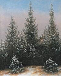 ノイエ・ピナコテークフリードリヒ「モミの木」