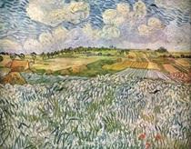 ノイエ・ピナコテークゴッホ「オーヴェールの風景・麦畑」
