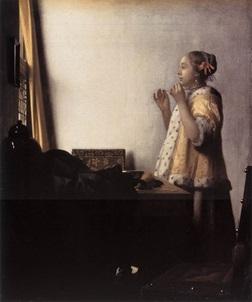 ベルリン絵画館フェルメール「真珠のレックレスの少女」