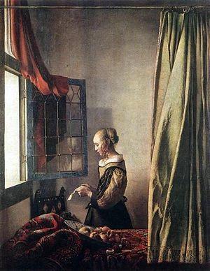 古典巨匠絵画館フェルメール「窓辺で手紙を読む女」