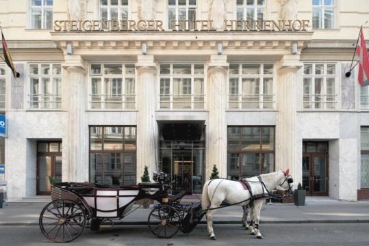 ウィーン: シュタイゲンベルガー・ヘレンホフ Steigenberger Hotel Herrenhof