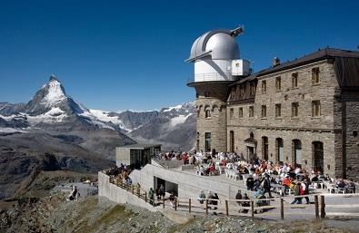 マッターホルンを望むゴルナーグラート展望台(標高3089m)