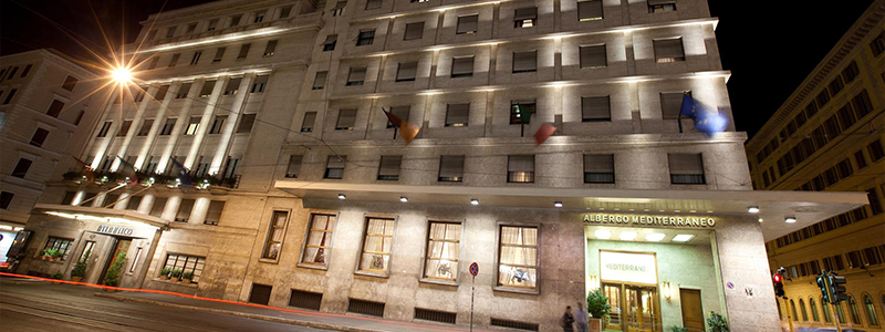 ローマ: メディティラネオ Hotel Mediterraneo